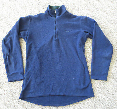 Patagonia Expedition Weight Capilene 1/3 Zip Blue Fleece Shirt Men's Small S