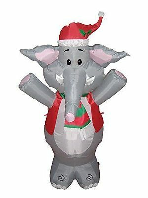 BZB Goods Lighted Christmas Blow Up Cute Elephant Yard Decoration, 4
