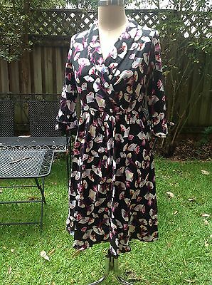 swing dress cotton floral size 14- ish to 16