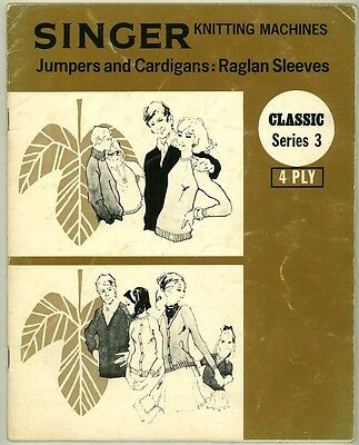 Singer Machine Knitting Pattern Book - Jumpers & Cardigans In 4Ply