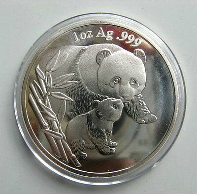 2004 Chinese Giant Panda Silver Colour Medal Coin **Free Shipping**