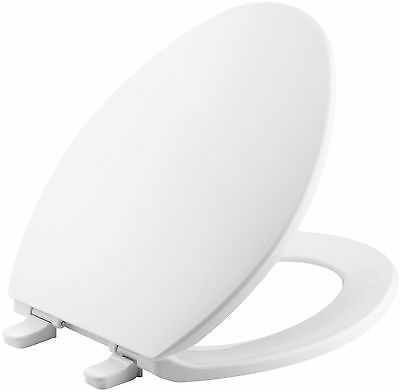 Kohler K-4774-0 Brevia Elongated Toilet Seat with Q2 Advantage, White