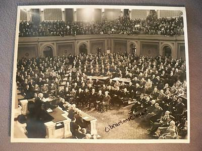 Vintage Rare 1950 11X14 Life Magazine Photo President Truman Addresses Congress