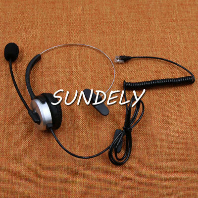 RJ9/RJ10/RJ22 Telephone Phone Headset HeadphoneMicrophone/Mic - Call Centre New