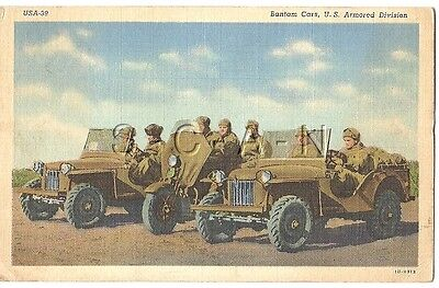 WWII Original 1940s Linen Army PC- Bantam Cars- Jeep- Motorcycle- PM 1942