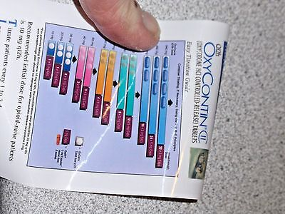 Oxycontin WINDOW shade PEN , see all 4 PICS , Class 2 Oxycodone 1 side has pics