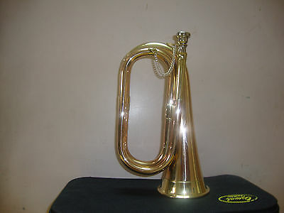 Rocking Offer!!! New Excellent Scout,army,cadet, Militaria Bugle+ Free Case+M/p