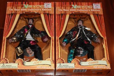 Lot Of 2 Nsync Collectable Marrionette Dolls Chris & Joey All Entertainment 2000