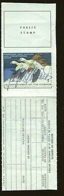 FLORIDA 1977 Resident State Hunting & Fishing License / RW44 Duck Stamp - 330
