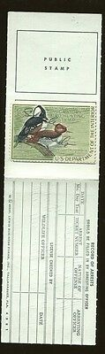 FLORIDA 1968 Resident State Hunting License / RW35 Federal Duck Stamp - 321