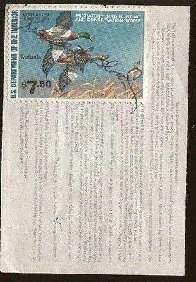 LOUISIANA 1980 Basic Resident Hunting License RW47 Federal Duck Stamp - 456