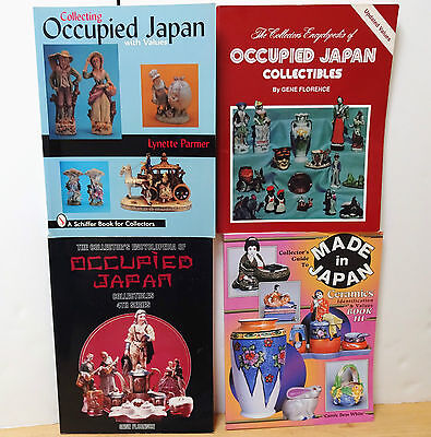 Lot of 4 OCCUPIED JAPAN ANTIQUE & COLLECTIBLES IDENTIFICATION & VALUE GUIDES