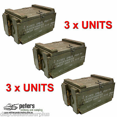 Ex Army Mine Apers Box Rope Handle, Ex Aust Army, Bundle Deal Package X 3 Units