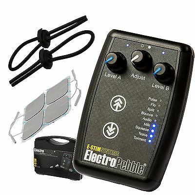 E-Stim Pebble +Free Loops. 9 Estim Modes 2 Independant Outputs (Tens)
