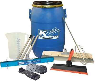 Floor Self-Leveling Installation Tool Kit with 15 Gal. Mixing Barrel (7-Piece)