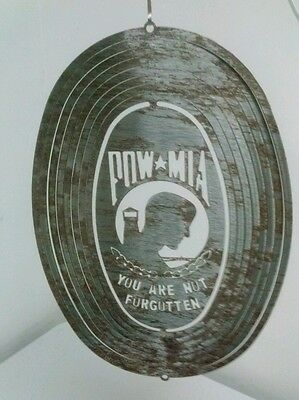"11 X 8"" Oval Metal Sign POW MIA YOU ARE NOT FORGOTTEN Outdoor Sign"