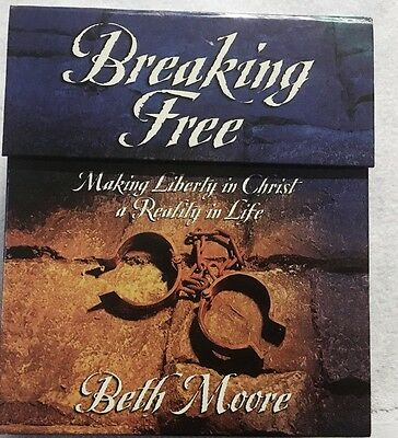 Beth Moore Breaking Free Leader Kit VHS Boxed Set Women's In-Depth Bible Study