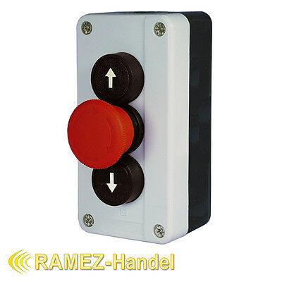 Pressure Button Switch on Emergency Off to for Garage Door Drive Gate