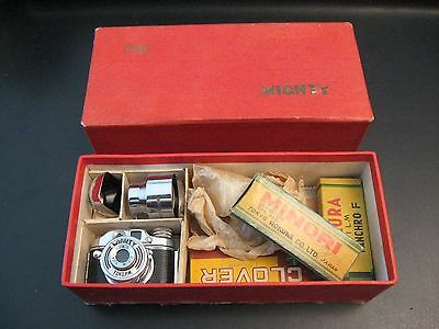 Vintage Toko Mighty Mini Spy Camera Made in Occupied Japan w/Box & Complete Kit!