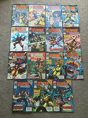 MARVEL COLLECTORS EDITION. Wolverine Unleashed . Set Of Issues 1 - 15