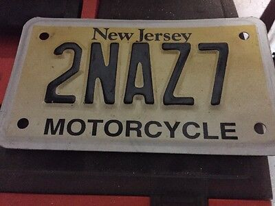 NJ New Jersey Motorcycle License Plate