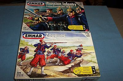 Emhar 1/72 Franco Prussian War French Zouaves And Prussian Infantry