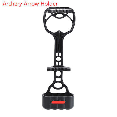 Outdoor Archery Adjustable Quiver Holder 4 Arrows Compound Bow Hunting