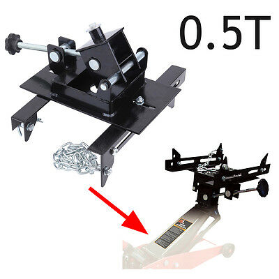 0.5T Black Transmission Jack Adaptor Gearbox Trolley Cradle Support Plate