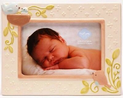 CR Gibson Ceramic Baby Photo Frame 4x6