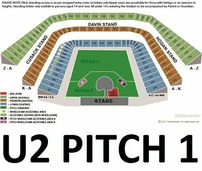 U2 - Joshua Tree Tour 2017/ 2 x E-TICKETS PITCH 1 / CROKE PARK 22/07/17
