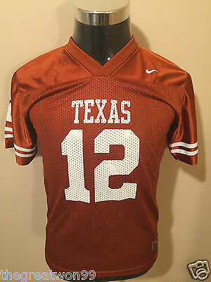NCAA Texas Longhorns #12 YOUTH MED Printed 2009 College Football Jersey by NIKE