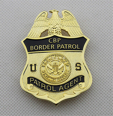 US Patrol CBP Badge Copper Special Agent Cos Collection Metal Pin Insignia Gifts