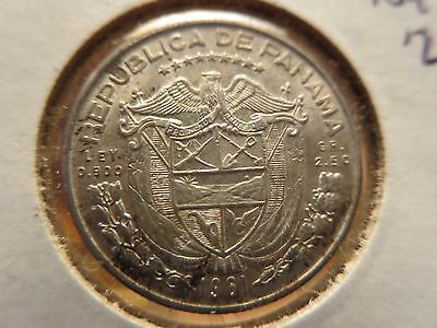 1961 Unc. Silver Panama World Money Coin Toned North & Central Collectors Buy