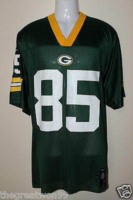 NFL Green Bay Packers #85 MED 7075A Printed Gridiron Jersey by Reebok