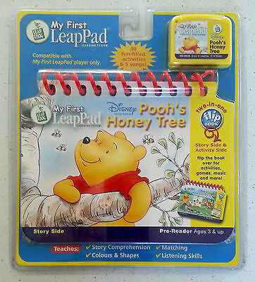 LeapFrog My First LeapPad 'Winnie the Pooh's Honey Tree' Game & Book NEW