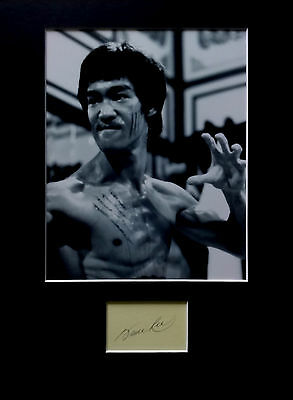 BRUCE LEE signed autograph PHOTO DISPLAY Martial Arts Enter The Dragon