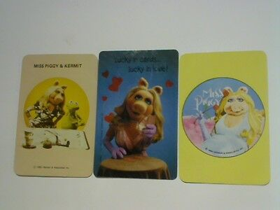 3 Single Swap/Playing Cards - Assorted Muppet Characters Miss Piggy & Kermit^^