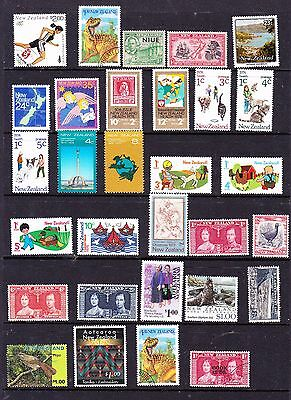 New Zealand stamps - 30 MUH, MH & Used