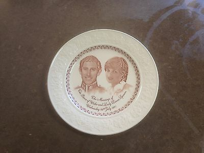 Staffordshire Diana and Charles wedding plate