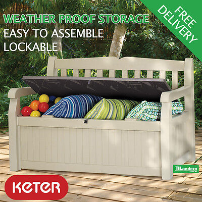 Keter Eden Garden Bench - With Storage in Base
