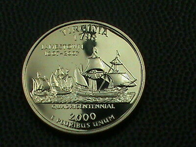UNITED STATES    25  Cents    2000  -  S    PROOF  ,   VIRGINIA