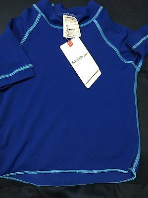 Boys Brand New With Tags SPEEDO rash Top Short Sleeve Size 6