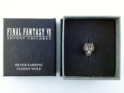 Final Fantasy VII Advent Children Silver 925 Earring Cloudy Wolf Square Enix