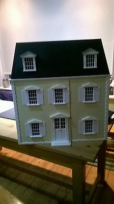Large vintage style dolls house with new furniture