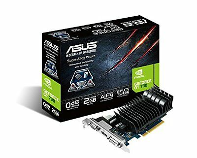 Asus Nvidia GeForce GT 730 Silent GDDR3 Graphics Card (2GB, PCI Express 2.0, HDM