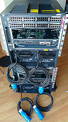 Lote of 2 x Cisco WS-C6500-E with two symmetrical chassis Cisco WS-C6506-E