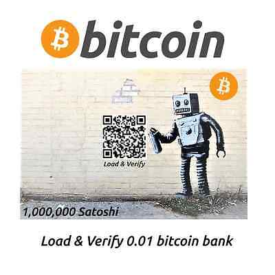 One Million Satoshi BITCOIN Banksy Street Art Edition Phisical Crypto-Currency