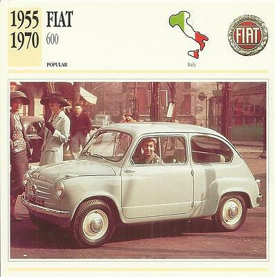 FIAT 600 1955 - 1970 original 2sided Edito collector's trading card