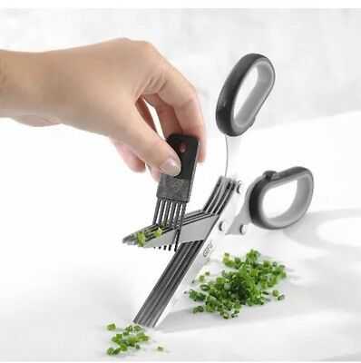 "-1@3 Gefu ""Cutare"" Herb Scissors, Stainless Steel, Multi Kitchen Chopper Slicer"