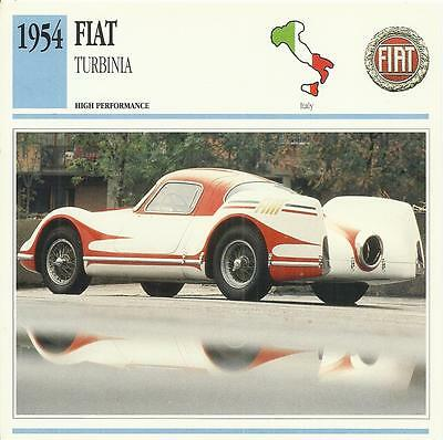 FIAT TURBINIA of 1954 original 2-sided Edito collector's trading card